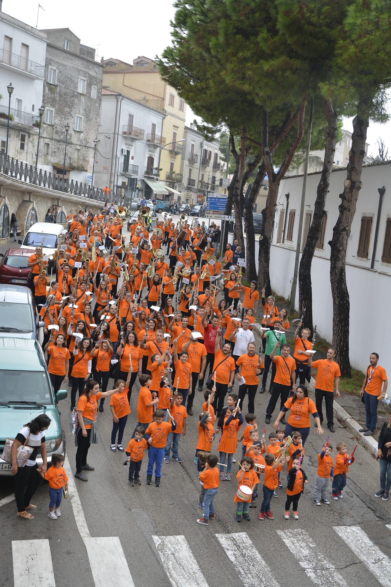 Palestra Vico Del Gargano la musica bandistica rivive con il raduno dei bandisti del