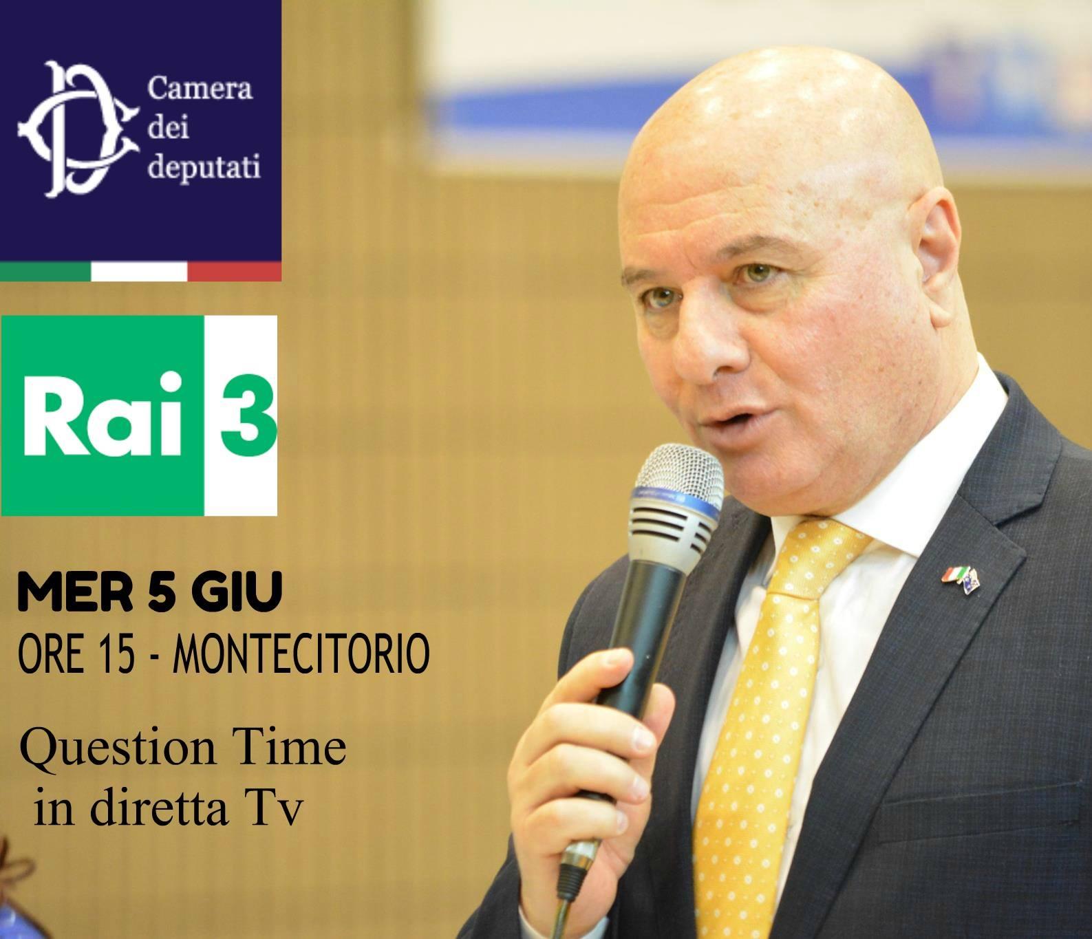 Tasso mercoled 5 giugno in diretta su rai 3 nel question for Diretta dalla camera dei deputati